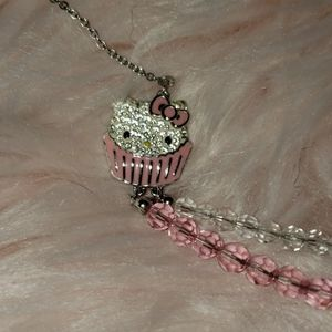 Swarovski hello kitty cupcake necklace